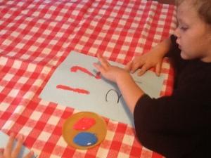 9-15 finger painting
