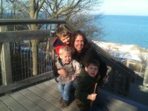 Lake Michigan family