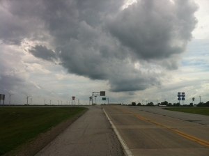 impending rain storm